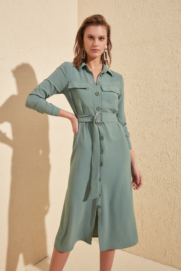 Mint Shirt Dress