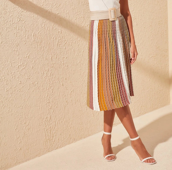 Stripe Shimmer Skirt