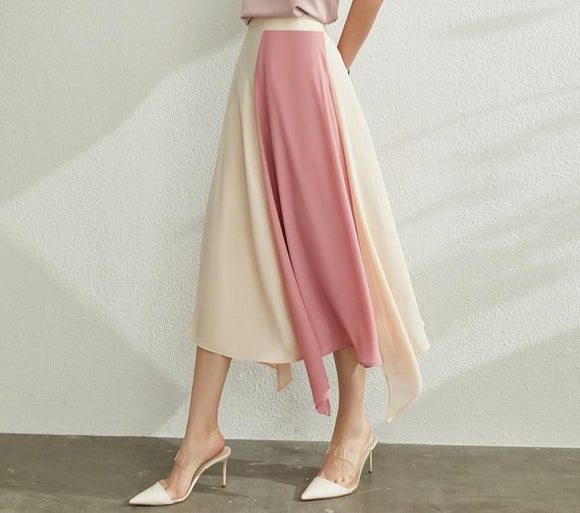 Colorblock Splice Skirt