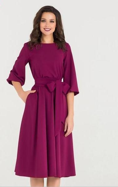 Color Belt Dress