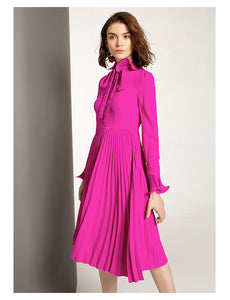 Major Pleat Detailed Dress