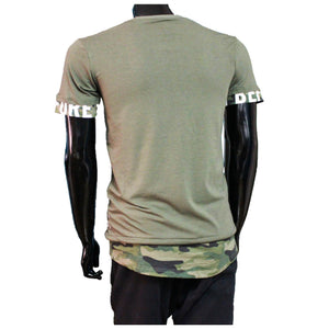 Tshirt camouflage khaki Groen before you