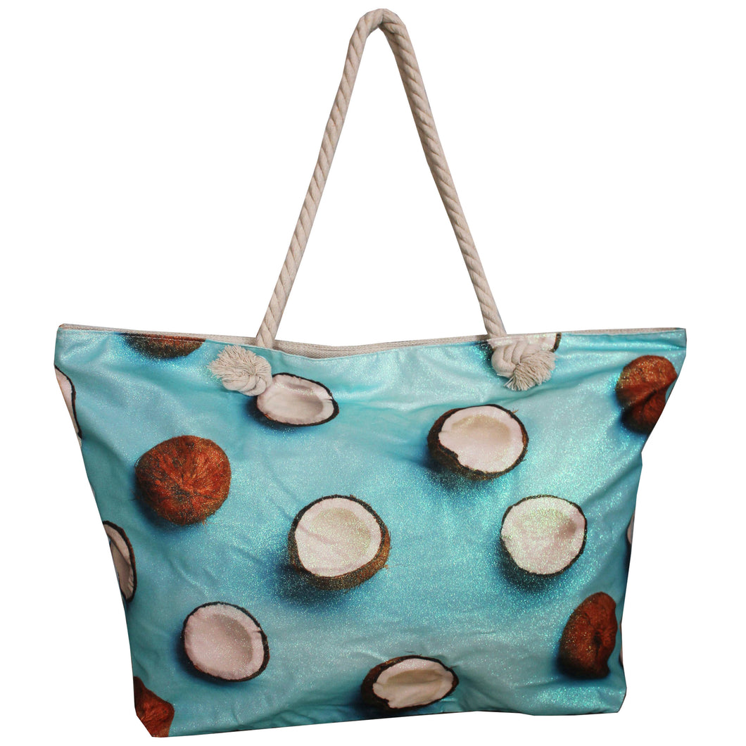 Shopper met kokosnoot print
