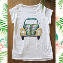 Afbeelding in Gallery-weergave laden, Strass T Shirt pease and love Volkswagen auto