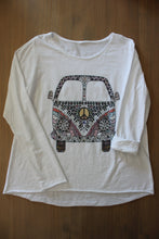 Afbeelding in Gallery-weergave laden, T shirt Hemd Retro Vintage Hippy Bus Pease And Love