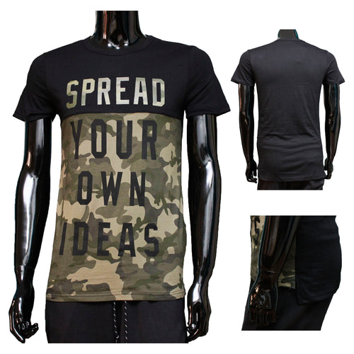 Tshirt Camouflage Zwart spread your own ideas