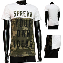 Afbeelding in Gallery-weergave laden, Tshirt Camouflage Wit spread your own ideas