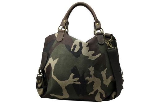 Camouflage dames tas