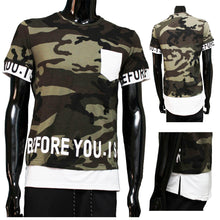 Afbeelding in Gallery-weergave laden, Tshirt camouflage Wit before you is