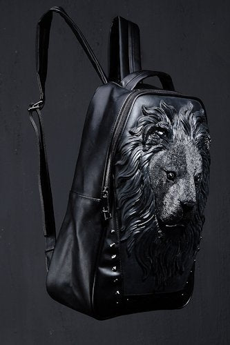 Faux Leather Lion Backpack
