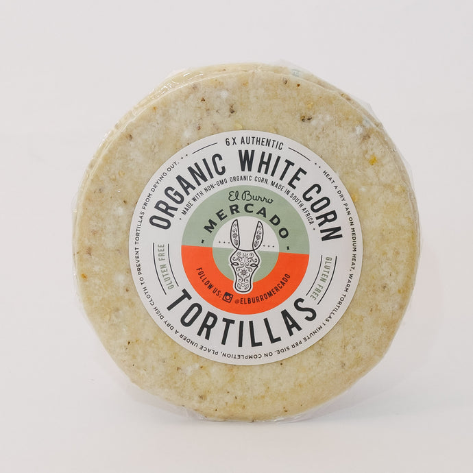 6 Organic White Corn Tortillas