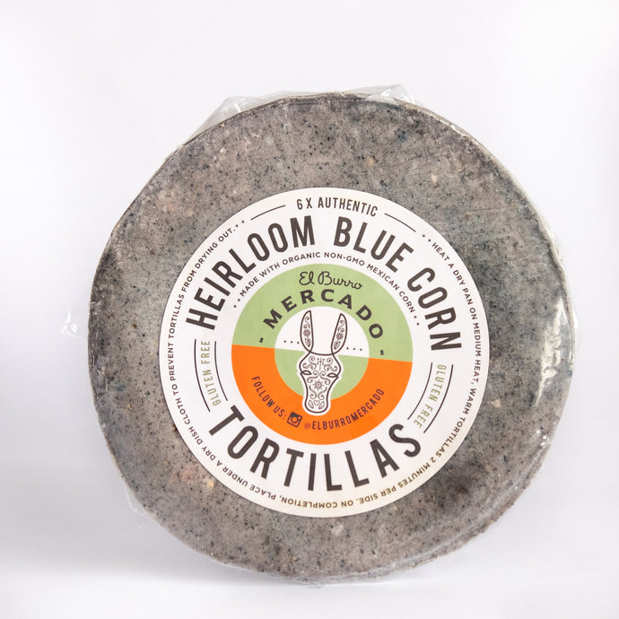 6 Blue Mexican Heirloom Corn Tortillas
