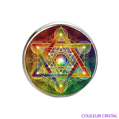 Bague Cube de Metatron Rainbow
