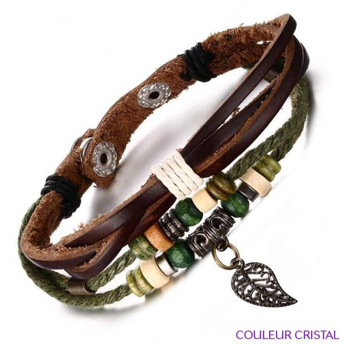 Vnox Brown Bracelet Ethnique Nature