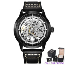 Charger l'image dans la galerie, PAGANI DESIGN Watches Mens Luxury - Montre Mécanique Etanche Bracelet Cuir - black black