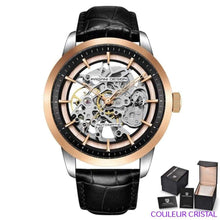 Charger l'image dans la galerie, PAGANI DESIGN Watches Mens Luxury - Montre Mécanique Etanche Bracelet Cuir - black gold