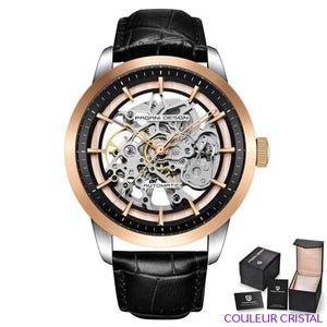 PAGANI DESIGN Watches Mens Luxury - Montre Mécanique Etanche Bracelet Cuir - black gold