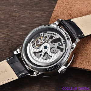 PAGANI DESIGN Watches Mens Luxury - Montre Mécanique Etanche Bracelet Cuir