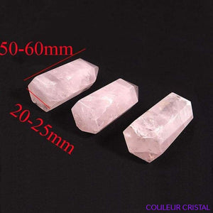 Pointe de quartz rose naturel - 50-60mm
