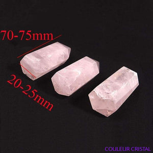 Pointe de quartz rose naturel - 70-75mm