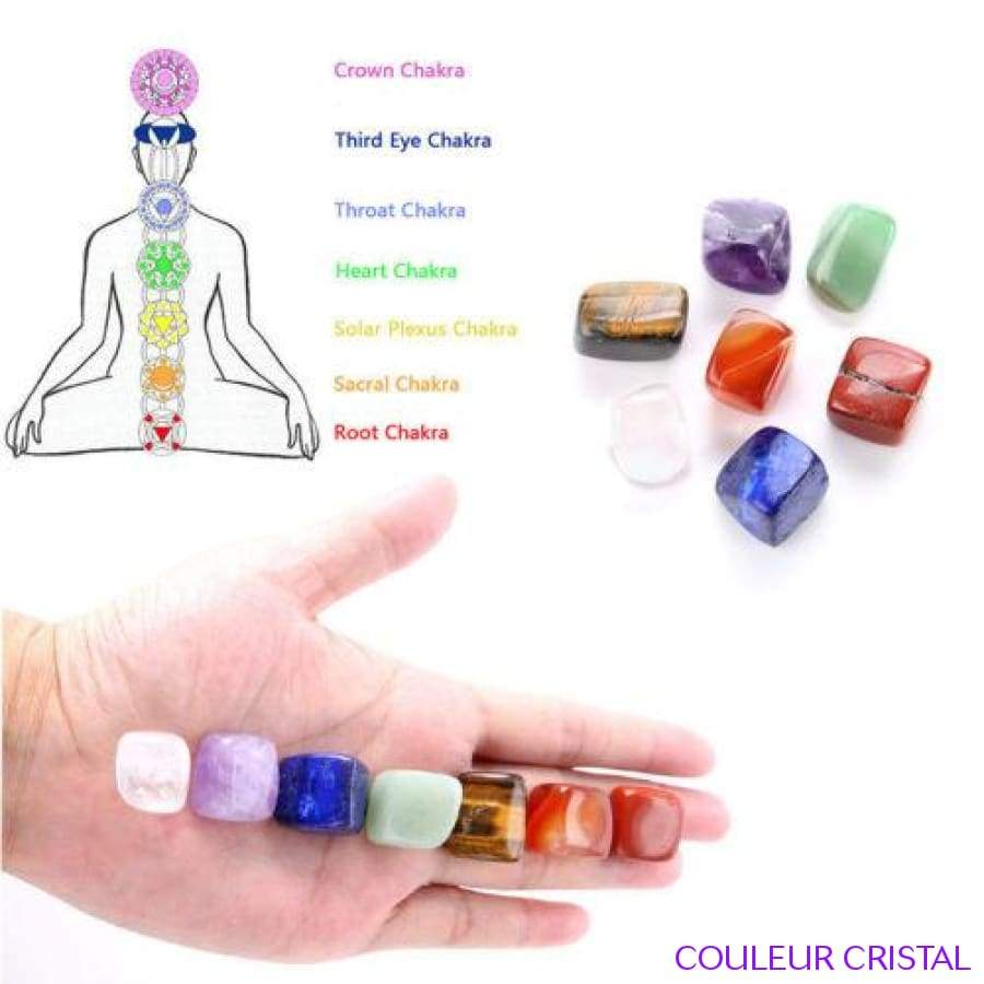 Set de 7 pierres chakras naturelles