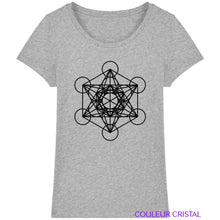 Charger l'image dans la galerie, T-Shirt Femme Cube de Metatron - Heather Grey / XS