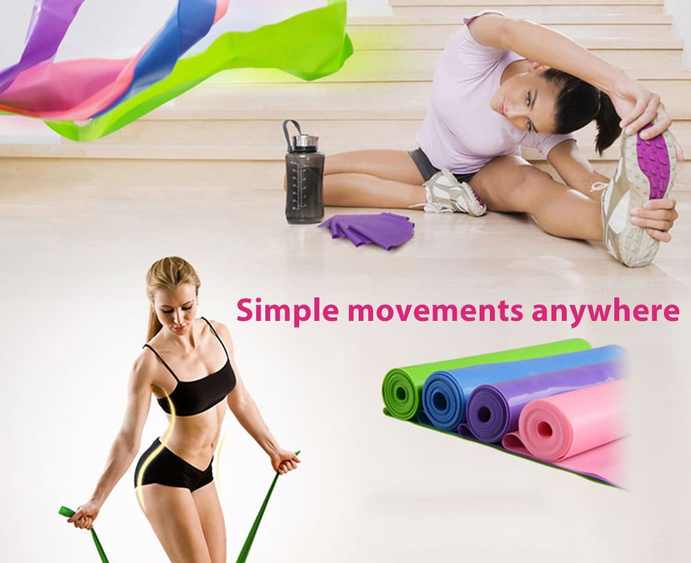 Elastic Emulsion Yoga Stretch Resistance Band Rope Fitness Equipment for Body Building