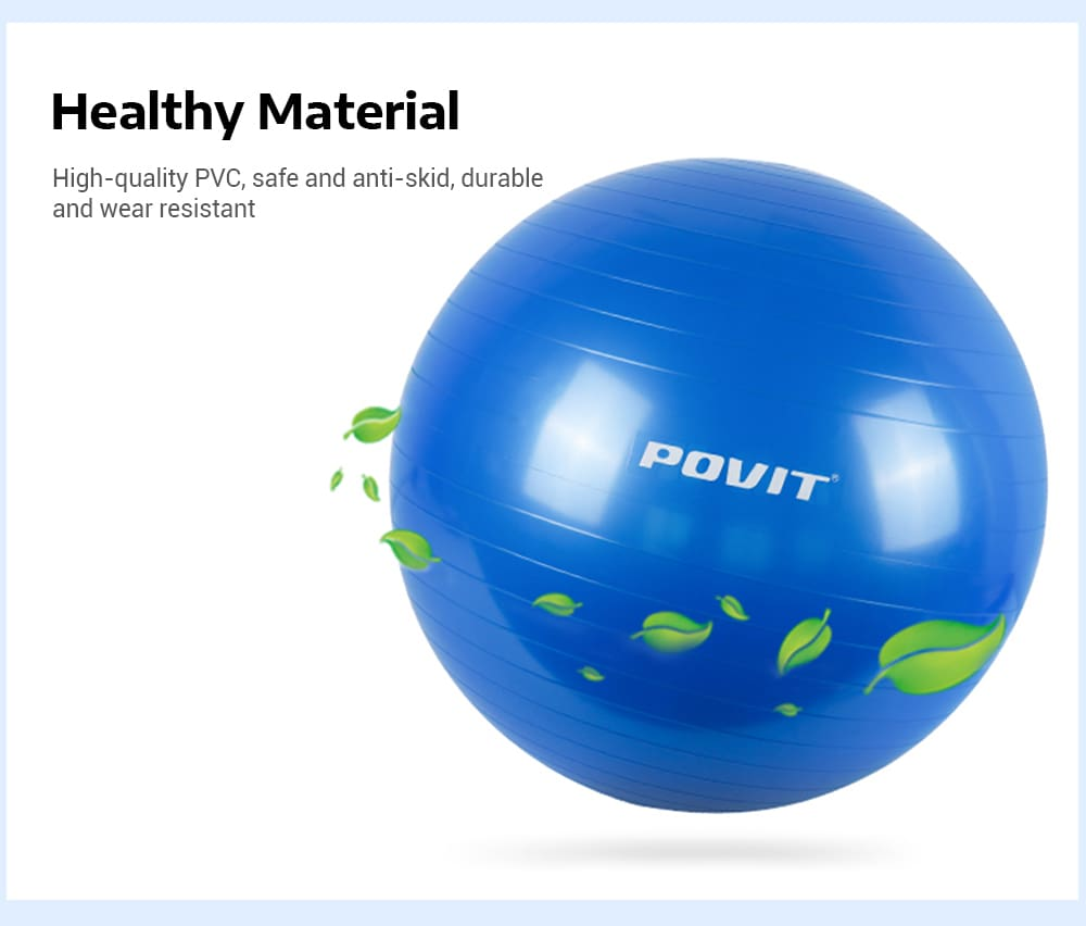 Povit P - 9214 65CM Yoga Ball with Pump for Fitness Balance Workout
