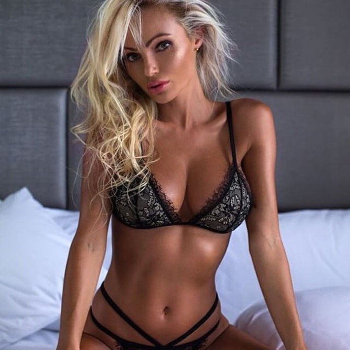 Sexy Lace Bralette and Thong Set - Aeromancy