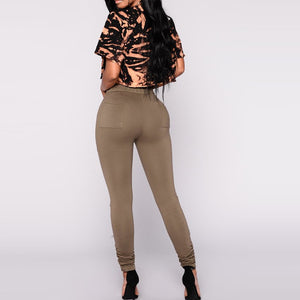 Women Skinny Drawstring Pants - Aeromancy