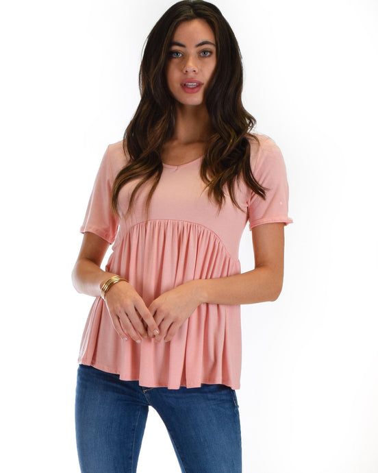 Free To Flounce Sleeve Peplum Top - Aeromancy