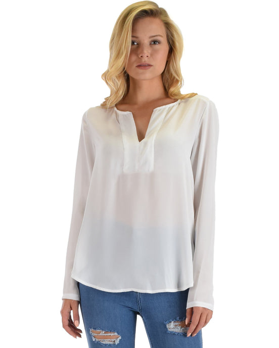 Kimberly Woven Long Sleeve Blouse - Aeromancy