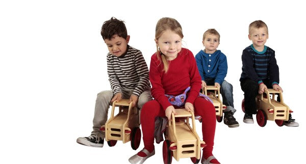 Kindergarten Ride-On Truck - Natural Wood