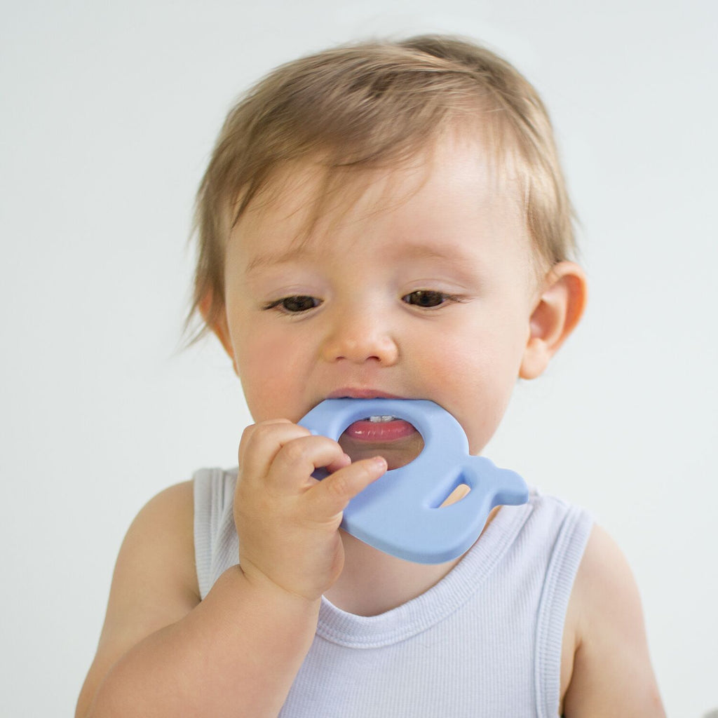 Wally Whale Teething Toy - Light Blue