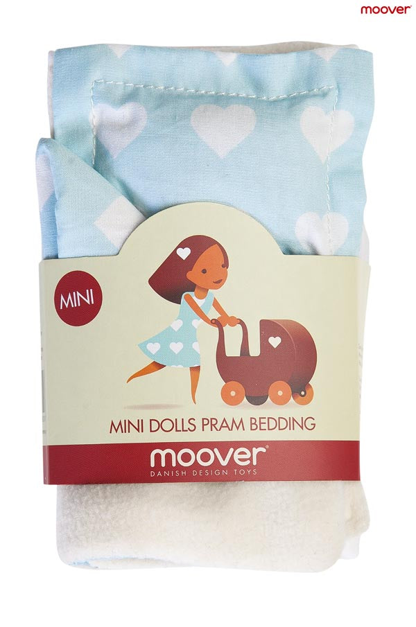 Miniature Dolls Stroller (Pram) Bedding Set - Blue