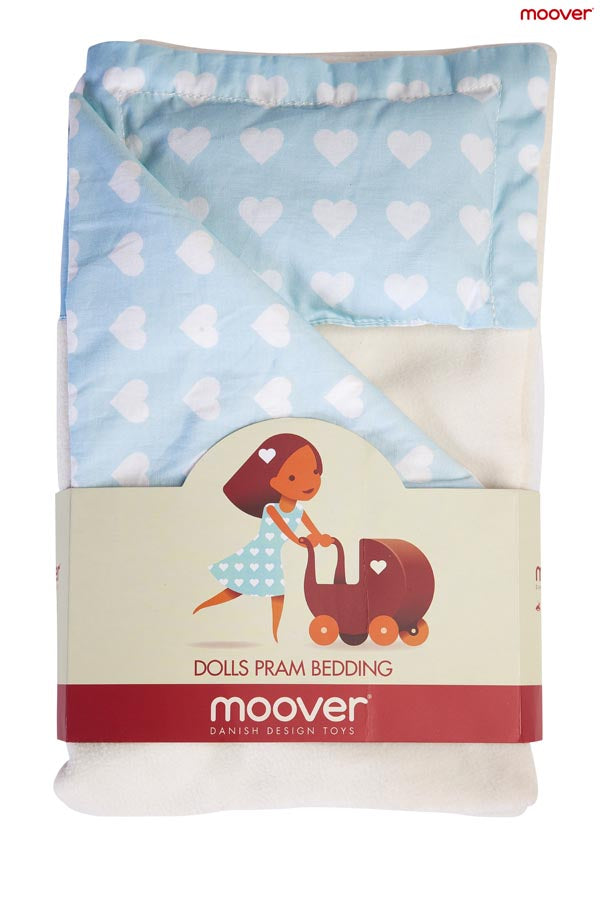 Dolls Stroller (Pram) Bedding Set - Blue