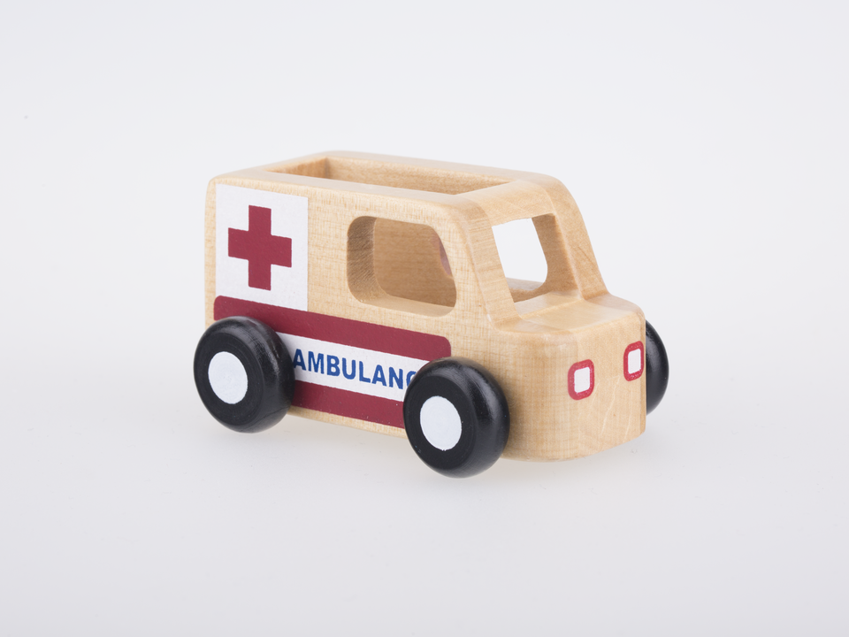 Mini Ambulance - Natural Wood