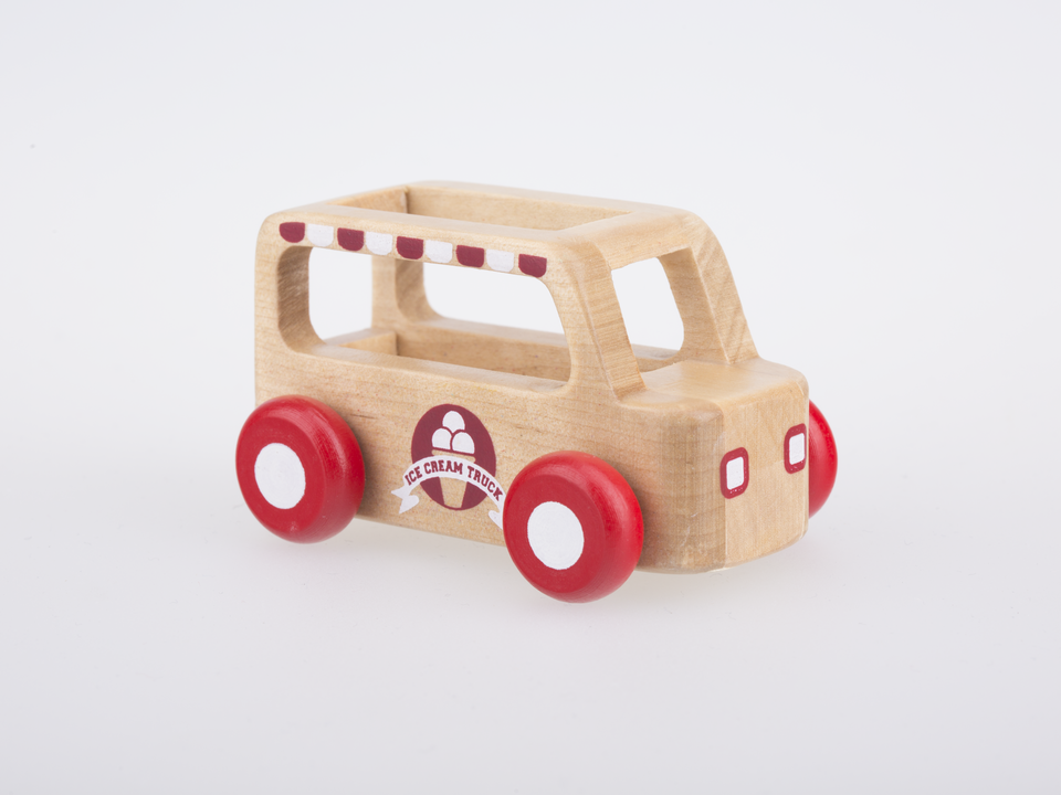 Mini Ice Cream Truck - Natural Wood
