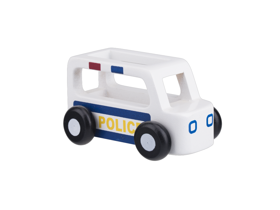 Mini Police Car - White