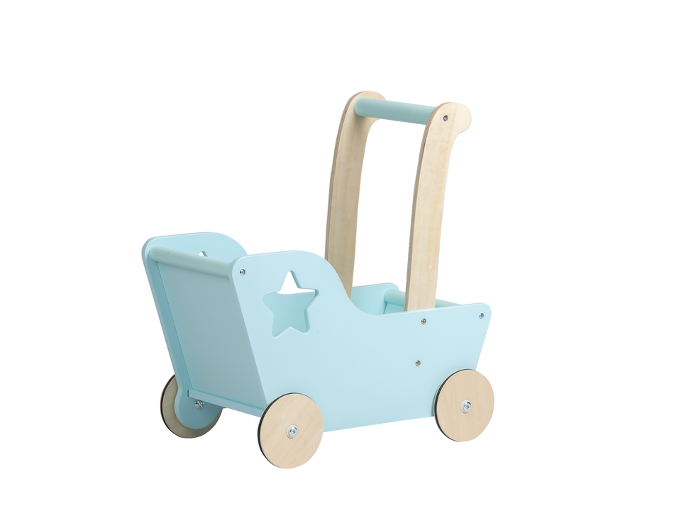 Modern Dolls Stroller (Pram) - Light Blue