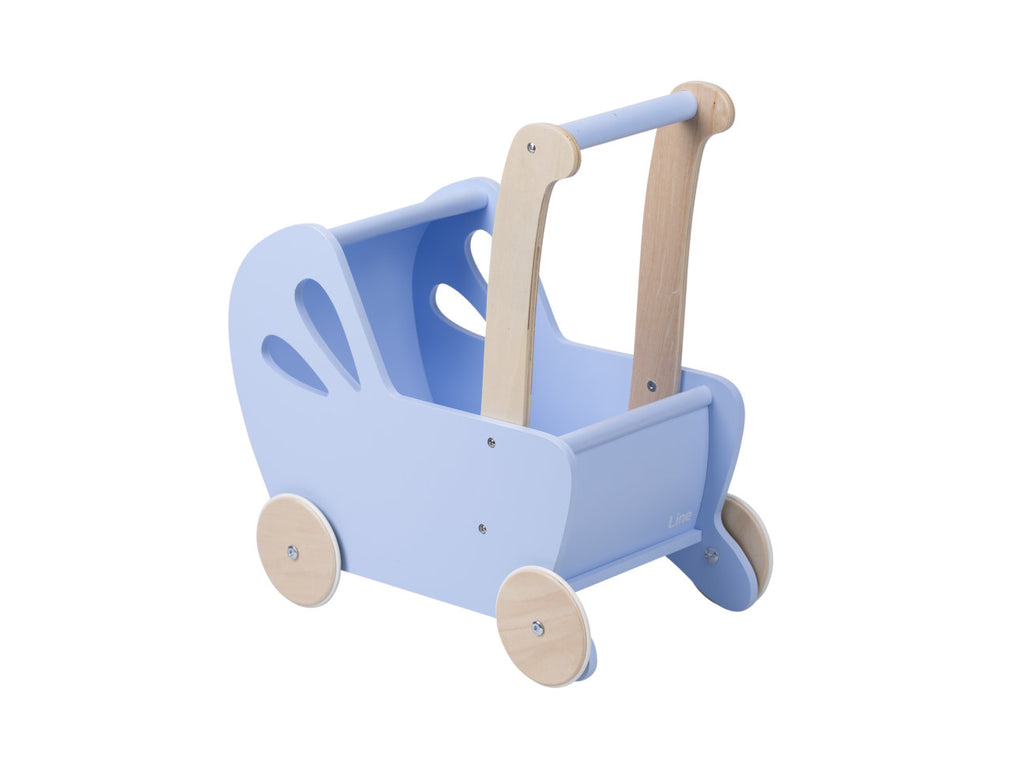 Dolls Stroller (Pram) - Light Blue