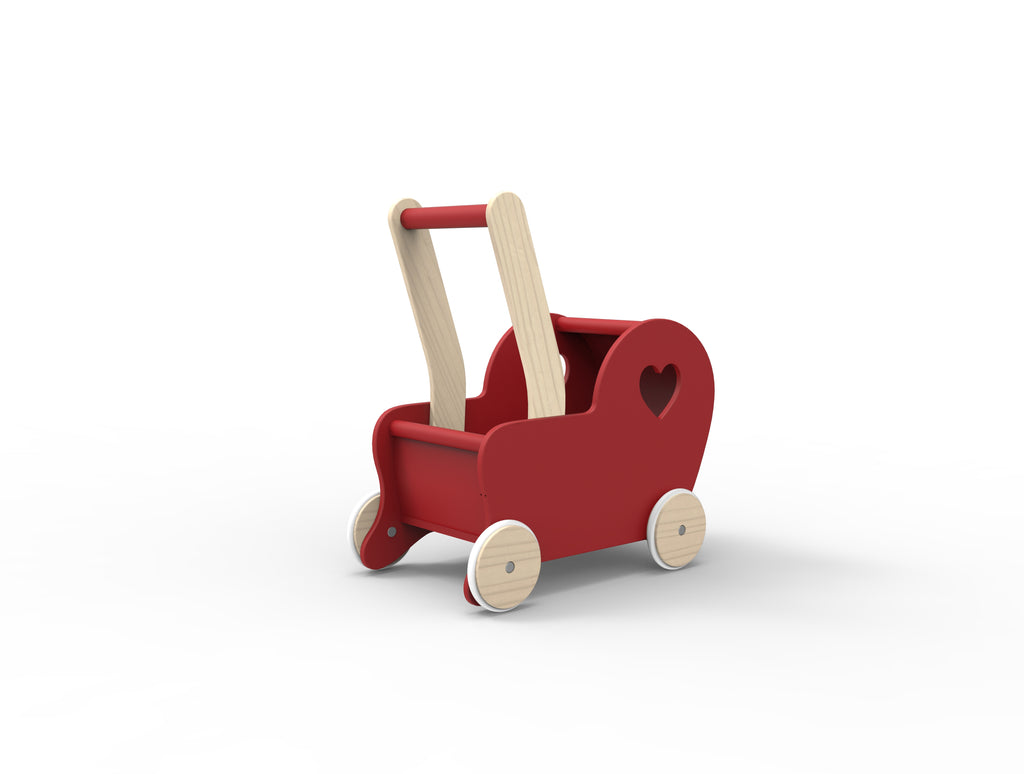Dolls Stroller (Pram) ESSENTIAL - Red