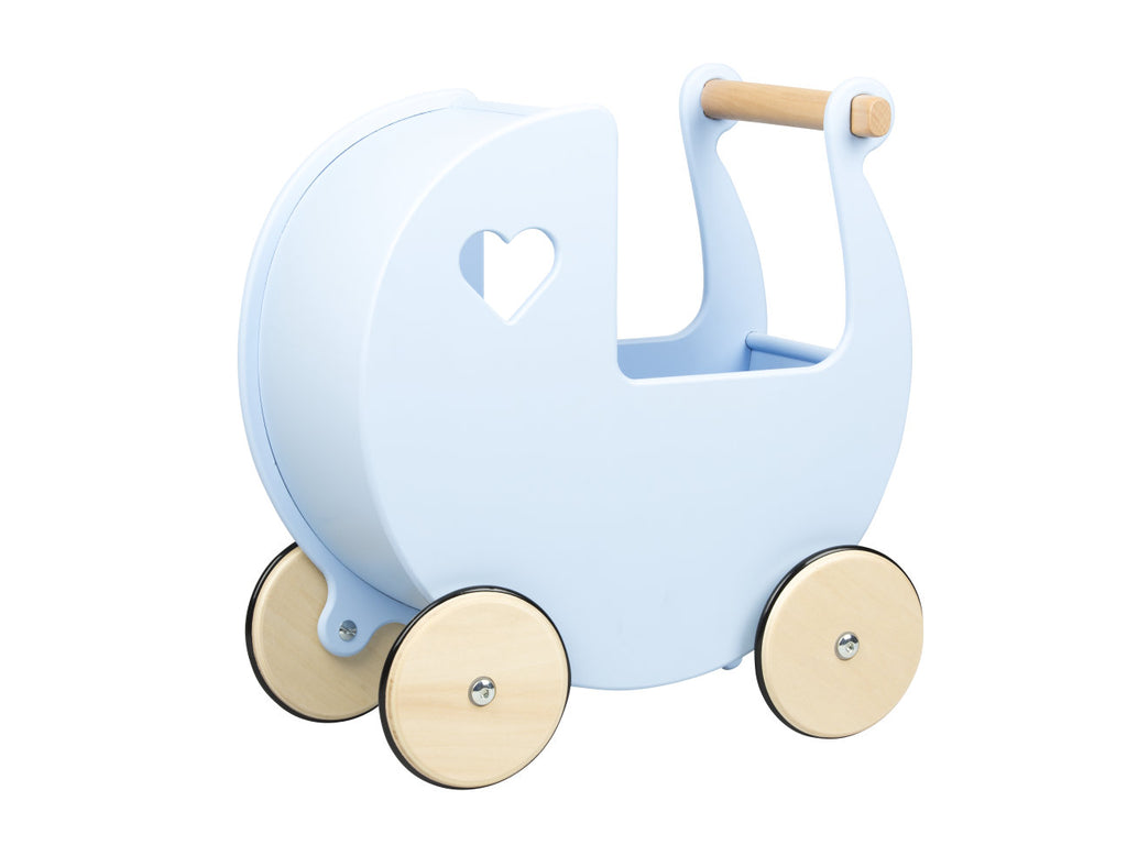 Traditional Dolls Stroller (Pram) - Light Blue