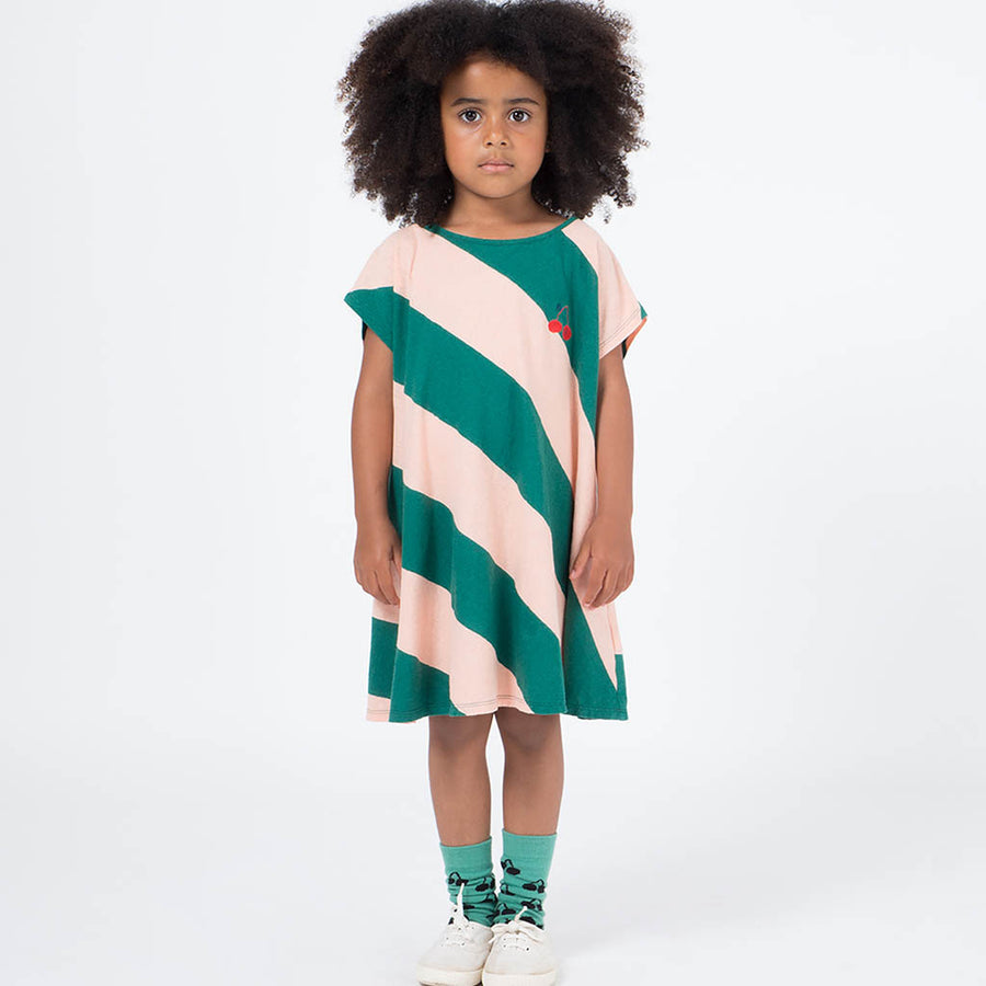 Bobo Choses Evase T-Shirtkleid Kirsche