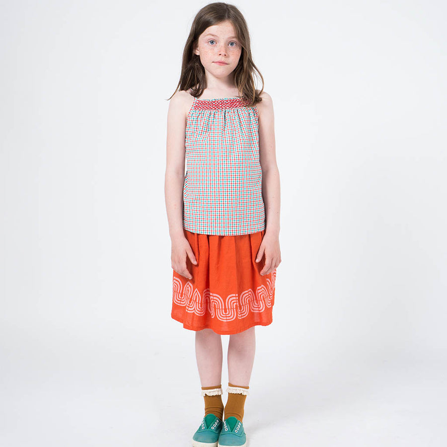 Bobo Choses Top Vichy Gardenia