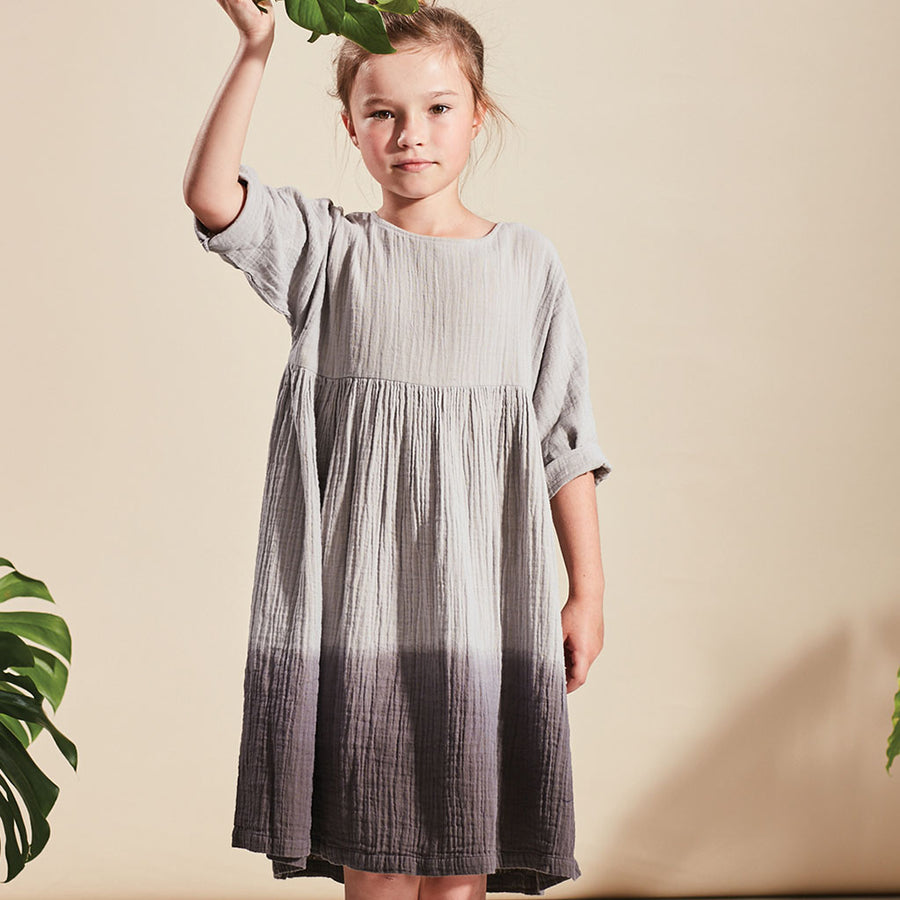 Kids on the moon Kleid Eiscreme Grau