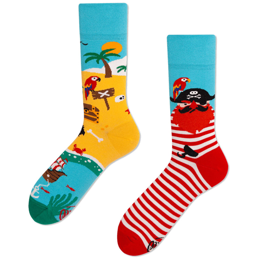 Many Mornings Socken Pirateninsel