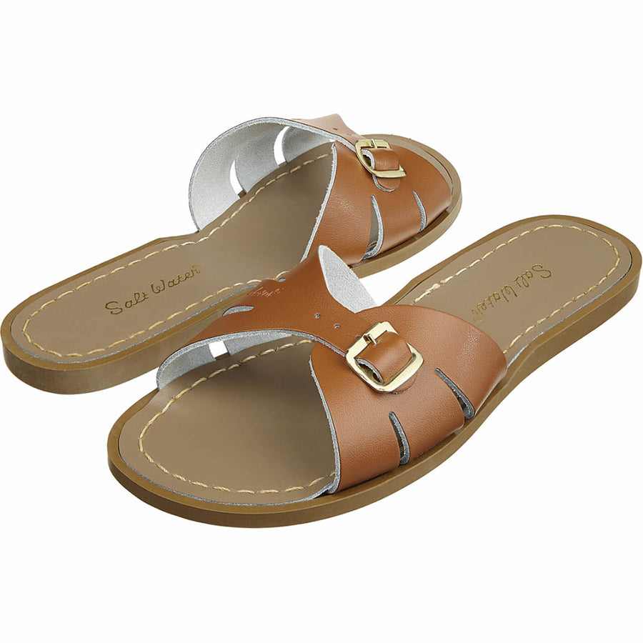 Salt-Water wasserfeste Frauen-Sandale Slides Tan Gr. 36-42