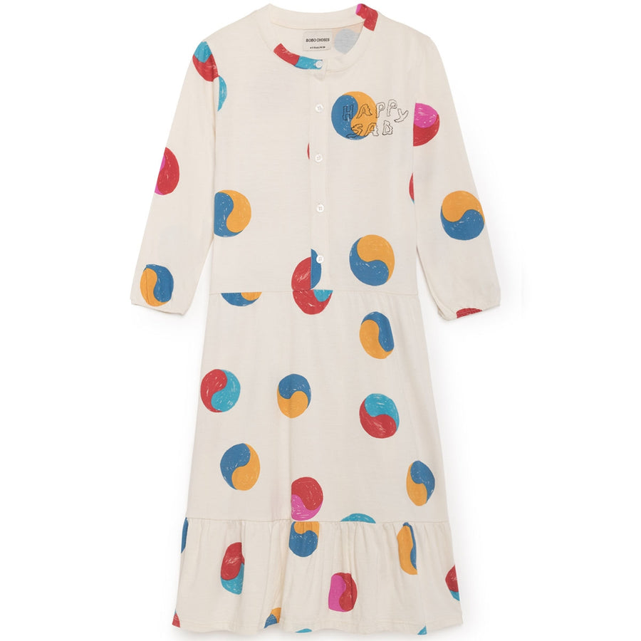 Bobo Choses Langarmkleid Yin Yang
