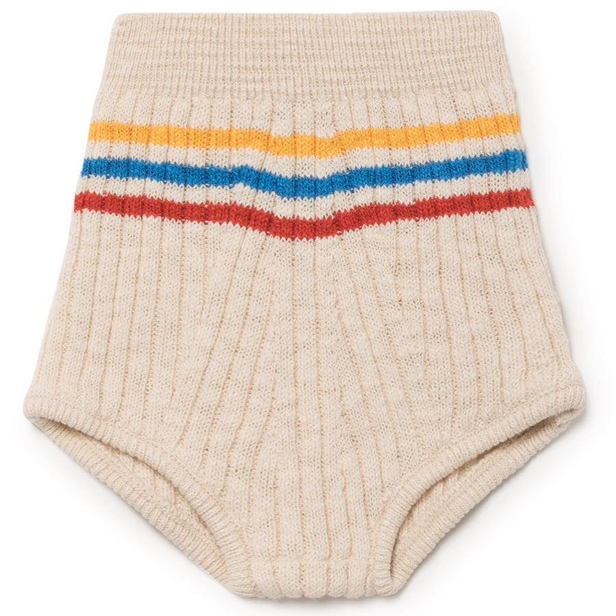 Bobo Choses Strick-Shorts Beige